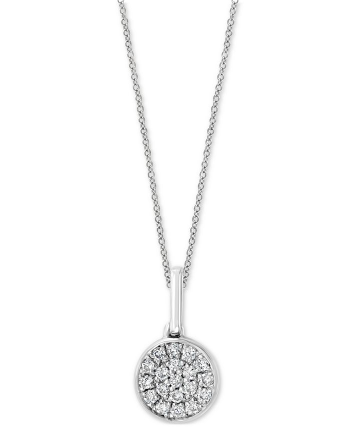 """EFFY Collection - Diamond Pavé Cluster 18"""" Pendant Necklace (1/10 ct. t.w.) in Sterling Silver"""