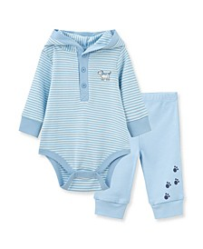 Baby Boys Puppy Bodysuit Pant Set