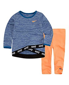 Baby Girls Dri-FIT Top and Leggings Set
