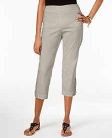 Crochet-Lace Appliqué Capri Pants, Created for Macy's