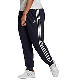 Essentials Plus Size 3-Stripe Tapered Cuffed Pants