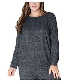 Women's Plus Size Cozy Raglan Sweatshirt
