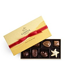 Red Bow Gold Gift Box, 8-Piece