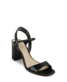 Women's Irma Block Heel Sequins Sandal