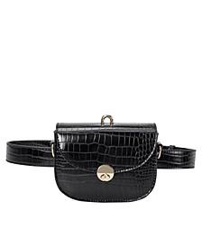 Keaton Small Croco Vegan Leather Convertible Belt Bag