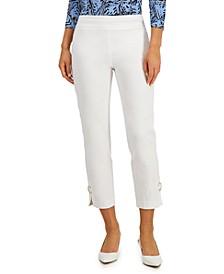 Ring-Detail Slim-Leg Pants, Created for Macy's