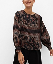 Women's Flowy Printed Blouse