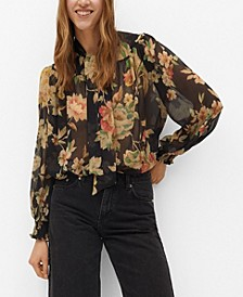 Women's Tie-Neck Blouse