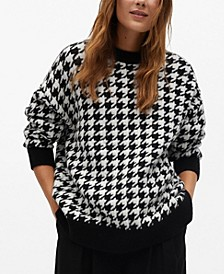 Women's Houndstooth Knit Sweater