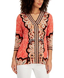 Mixed-Print Tunic Top, Created for Macy's