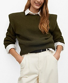 Women's Shoulder Pad Knit Sweater