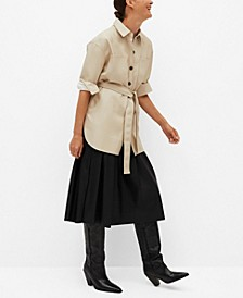 Women's Faux Leather Overshirt