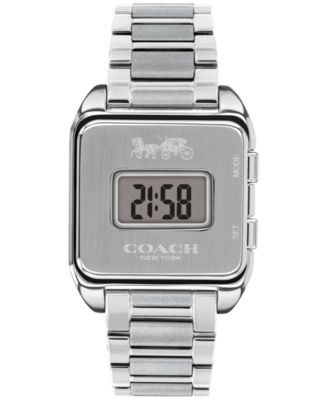 코치 여성 손목 시계 COACH Womens Digital Darcy Stainless Steel Bracelet Watch 30mm