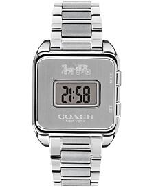 Women's Digital Darcy Stainless Steel Bracelet Watch 30mm