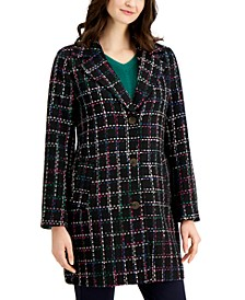 Plaid Long Jacket, Created for Macy's