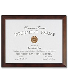 """Walnut Wood Document Picture Frame - Estero Collection, 8.5"""" x 11"""""""