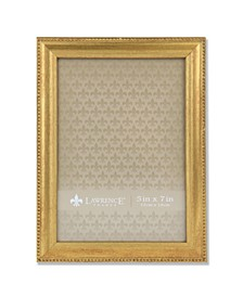 """Burnished Picture Frame - Classic Bead Border, 5"""" x 7"""""""