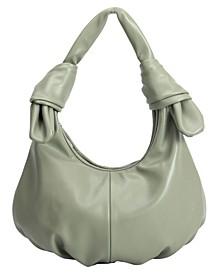 Emma Medium Vegan Leather Hobo Shoulder Bag