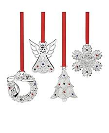 Jeweled Ornament 4-Piece Set