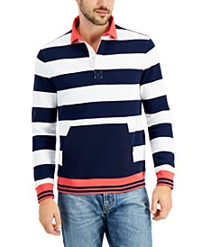 Men's Striped Rugby Sweatshirt, Created for Macy's