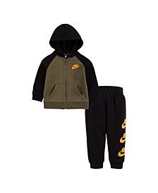 Baby Boys Zip Hoodie and Pants Set