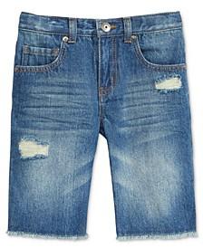 Little Boys Frayed Hem Denim Shorts