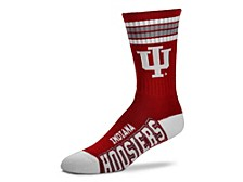 Indiana Hoosiers Youth 4 Stripe Deuce Crew Socks