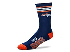Denver Broncos Youth 4 Stripe Deuce Crew Socks