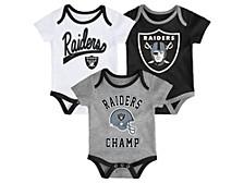 Las Vegas Raiders Infant Champ Creeper Set