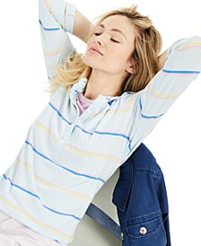 Cotton Striped Roll-Tab Top, Created for Macy's