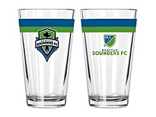 Seattle Sounders FC 16oz Double Banded Pint Glass