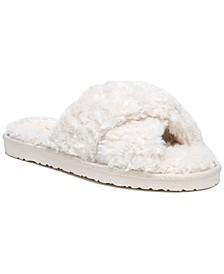 Women's Jeane Fluffy Crisscross Slippers