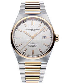 Frederique Constant Men's Swiss Automatic Highlife COSC Two-Tone Stainless Steel Bracelet Watch 41mm