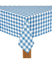 """Buffalo Check Navy 100% Cotton Table Cloth for Any Table 70"""" Round"""