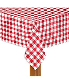 """Buffalo Check Red 100% Cotton Table Cloth for Any Table 60""""X104"""""""