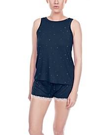 Lace-Trim Shorts Pajamas Set