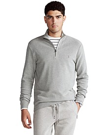 Men's Big & Tall Cotton Quarter-Zip Sweater