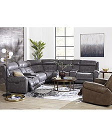 Rihaan Fabric Sectional Collection, Created for Macy's