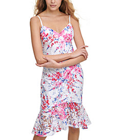 GUESS Printed Lace Bodycon Dress