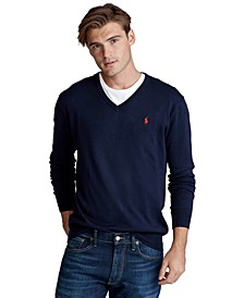 Men's Big & Tall Cotton V-Neck Sweater