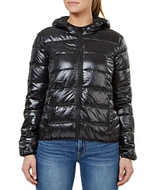 Quilted Hooded Packable Jacket
