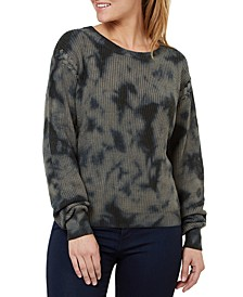 Camo-Print Lace-Up Sweater