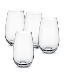 Entrée Water Tumbler or Cocktail Glass, Set of 4