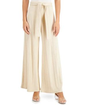 Wide-Leg Tie-Waist Pants