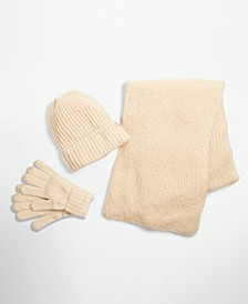 Rib Solid Scarf, Beanie and Gloves Collection, Created for Macy's