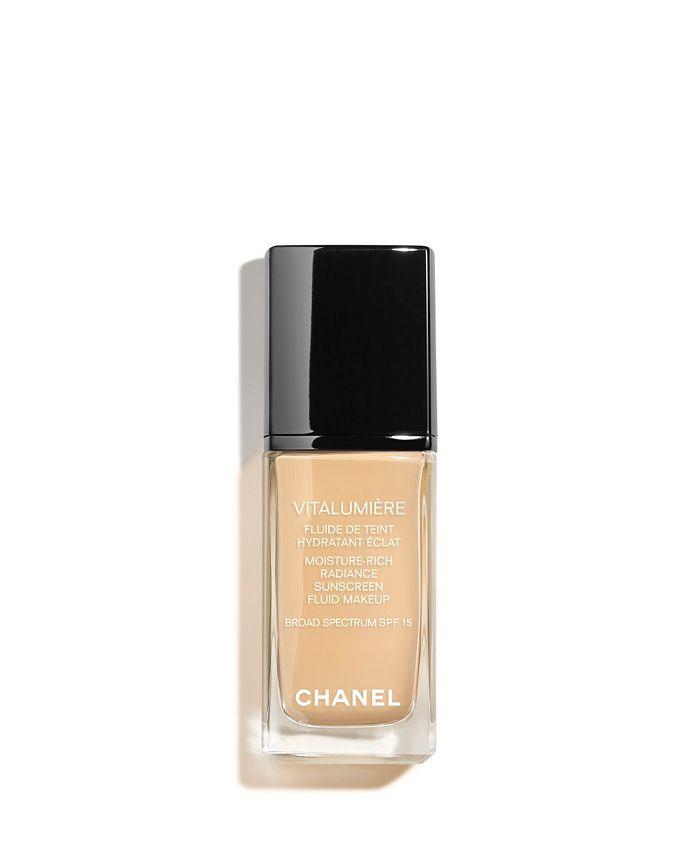 CHANEL - Moisture-Rich Radiance Sunscreen Fluid Makeup Broad Spectrum SPF 15
