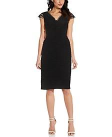 Lacy Jersey Pintuck Dress