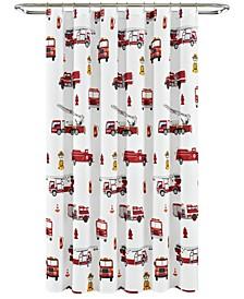 "Make A Wish Fire Truck Shower Curtain by Lush Decor, 72"" x 72"""