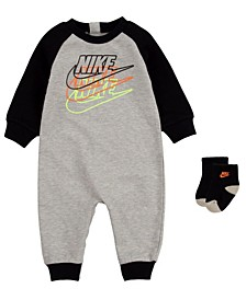 Baby Boys Futura Coverall Sock Set