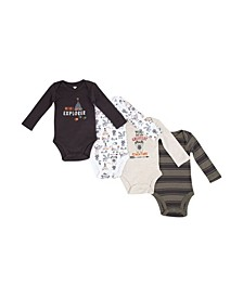 Boys 4 Piece Bodysuit Set